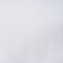 Żakardowa ZASŁONA w KRATĘ biała 135x250 cm na przelotkach - 135X250 - biały 3