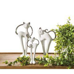 Wazon dekoracyjny kaktus srebrny 25 cm - 15 X 9 X 25 cm - srebrny 8