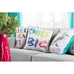 Poszewka dekoracyjna na poduszkę  45 x 45 Kolor Biały - 45x45 - biały, fioletowy, żółty 3