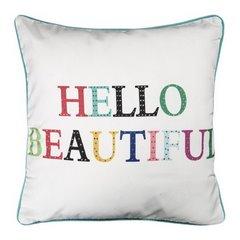 Poszewka dekoracyjna na poduszkę  45 x 45 Kolor Biały - 45x45 - biały, fioletowy, żółty 1