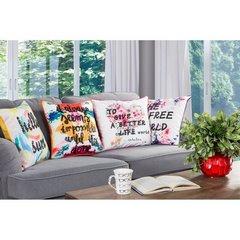 Poszewka dekoracyjna na poduszkę 45 x 45 kolor biały - 45 X 45 cm - mix kolorów 4