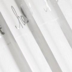 Zasłona biała ze srebrnymi napisami 140x250 cm przelotki - 140x250 - biały 2