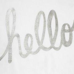Zasłona biała ze srebrnymi napisami 140x250 cm przelotki - 140x250 - biały 3