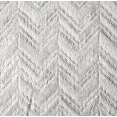 Dekoracyjny koc NELLY z nadrukiem w jodełkę SREBRNY 150x200cm - 150x200 - kremowy / srebrny 3