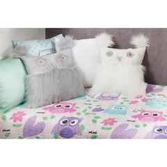 Poszewka na poduszkę 40 x 40 cm w kształcie sowy biała  - 40 X 40 cm - biały 6