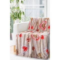 Ciepły, romantyczny koc aneta w serduszka 150x200cm - 150 X 200 cm - stalowy/czerwony 2