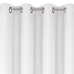 Zasłona gotowa biała 140x250 przelotki - 140 X 250 cm - biały 2