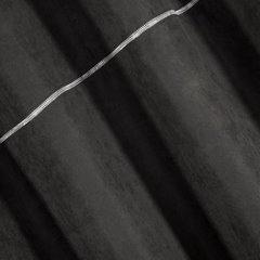 Zasłona czarna na przelotkach 140 x 250 cm zdobiona srebrnym zamkiem  - 140 X 250 cm - czarny 3