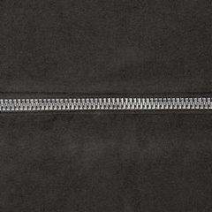 Zasłona czarna na przelotkach 140 x 250 cm zdobiona srebrnym zamkiem  - 140 X 250 cm - czarny 4
