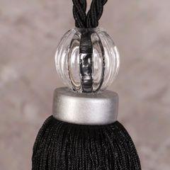 Chwosty, upinacze do zasłon kolor czarny 61 cm 1 szt - dł. 61 cm - czarny 6