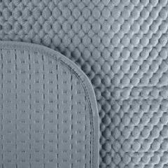 Narzuta na łóżko welwetowa pikowana hotpress 200x220 cm stalowa - 200 X 220 cm - stalowy 3