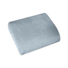 Narzuta na łóżko welwetowa pikowana hotpress 200x220 cm stalowa - 200x220 - szary 2