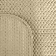 Narzuta na łóżko welwetowa pikowana hotpress 200x220 cm beżowa - 200 X 220 cm - jasnobeżowy 5