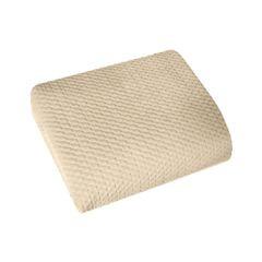 Narzuta na łóżko welwetowa pikowana hotpress 200x220 cm beżowa - 200x220 - beżowy 2