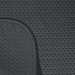 Narzuta na łóżko welwetowa pikowana hotpress 170x210 cm grafitowa - 170x210 - grafitowy 3