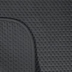 Narzuta na łóżko welwetowa pikowana hotpress 200x220 cm grafitowa - 200 X 220 cm - grafitowy 3