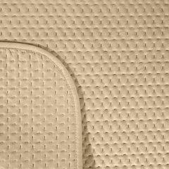 Narzuta na łóżko welwetowa pikowana hotpress 200x220 cm beżowa - 200 X 220 cm - beżowy 5