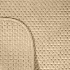Narzuta na łóżko welwetowa pikowana hotpress 200x220 cm beżowa - 200 X 220 cm - beżowy 3