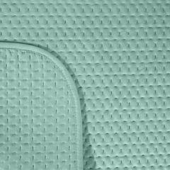 Narzuta na łóżko welwetowa pikowana hotpress 170x210 cm miętowa - 170 X 210 cm - miętowy 6