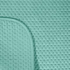 Narzuta na łóżko welwetowa pikowana hotpress 170x210 cm miętowa - 170 X 210 cm - miętowy 3