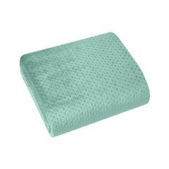 Narzuta na łóżko welwetowa pikowana hotpress 200x220 cm miętowa - 200 X 220 cm - miętowy 2