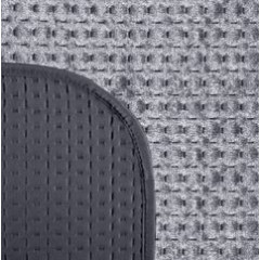 Narzuta na łóżko welwetowa pikowana hotpress 170x210 cm grafitowa - 170 X 210 cm - grafitowy 3