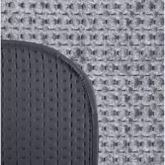 Narzuta na łóżko welwetowa pikowana hotpress 200x220 cm granat - 200 X 220 cm - grafitowy 6