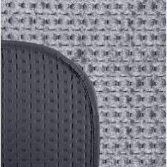 Narzuta na łóżko welwetowa pikowana hotpress 200x220 cm granat - 200 X 220 cm - grafitowy 3