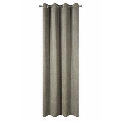 Zasłona grubsza szenilowa błyszcząca nitka przelotki 140x250cm - 140 X 250 cm - oliwkowy 5