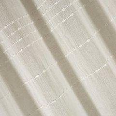 Zasłona kremowa z delikatnymi paseczkami 140x250 cm przelotki - 140x250 - kremowy 2