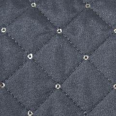 Narzuta na łóżko miękka zdobiona cekinami 220x240 cm stalowa - 220 X 240 cm - stalowy 3