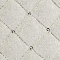 Narzuta na łóżko miękka zdobiona cekinami 170x210 cm kremowa - 170 X 210 cm - kremowy 3
