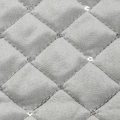 Narzuta na łóżko miękka zdobiona cekinami 170x210 cm srebrna - 170 X 210 cm - srebrny 5