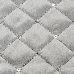 Narzuta na łóżko miękka zdobiona cekinami 170x210 cm srebrna - 170 X 210 cm - srebrny 3
