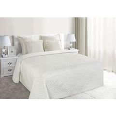 Narzuta na łóżko pikowana zdobiona cekinami 170x210 cm kremowa - 170 X 210 cm - kremowy 1