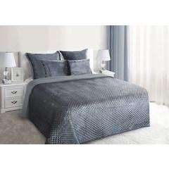 Narzuta na łóżko pikowana zdobiona cekinami 170x210 cm stalowa - 170 X 210 cm - stalowy 1