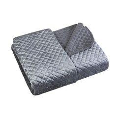 Narzuta na łóżko pikowana zdobiona cekinami 170x210 cm stalowa - 170 X 210 cm - stalowy 2