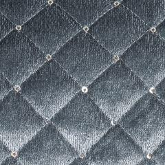 Narzuta na łóżko pikowana zdobiona cekinami 170x210 cm stalowa - 170 X 210 cm - stalowy 3