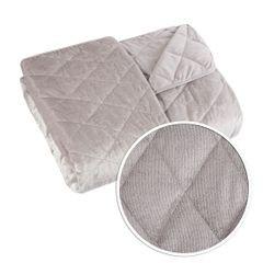Narzuta na łóżko welwetowa pikowana 200x220 cm różowa - 200 X 220 cm - j.różowy 7