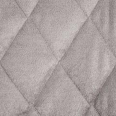 Narzuta na łóżko welwetowa pikowana 200x220 cm różowa - 200 X 220 cm - j.różowy 3