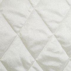 Narzuta na łóżko welwetowa pikowana 200x220 cm kremowa - 200 X 220 cm - kremowy 5