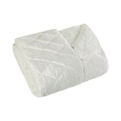 Narzuta na łóżko welwetowa pikowana 200x220 cm kremowa - 200 X 220 cm - kremowy 2