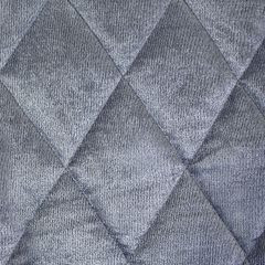 Narzuta na łóżko welwetowa pikowana 200x220 cm stalowa - 200 X 220 cm - stalowy 3