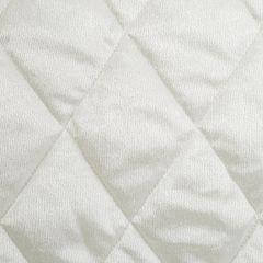 Narzuta na łóżko welwetowa pikowana 170x210 cm kremowa - 170 X 210 cm - kremowy 3