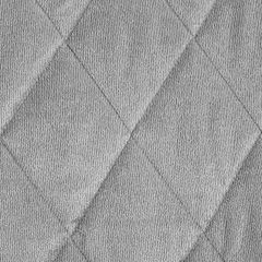 Narzuta na łóżko welwetowa pikowana 170x210 cm srebrna - 170 X 210 cm - srebrny 3