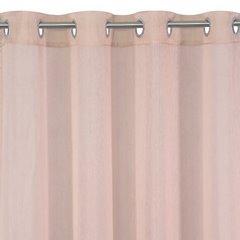 Firana gotowa gładka różowa na przelotkach 140x250cm - 140 X 250 cm - różowy 2