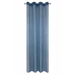 Firana gotowa gładka ciemnoniebieska na przelotkach 140x250cm - 140x250 - niebieski 6
