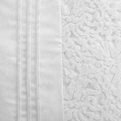 Narzuta na łóżko satynowa kwiatowy ornament 220x240 cm kremowa - 220 X 240 cm - kremowy 6