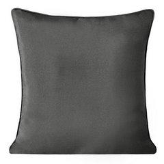 Poszewka na poduszkę gładka z lamówka 50 x 50 cm grafitowa - 50x50 - grafitowy 1