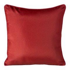 Poszewka na poduszkę gładka z lamówką 50 x 50 cm czerwona - 50 X 50 cm - czerwony 3